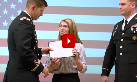 Ship student receives Army award for public service